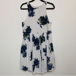 Free People Flutter By Floral Pleated Mini Dress